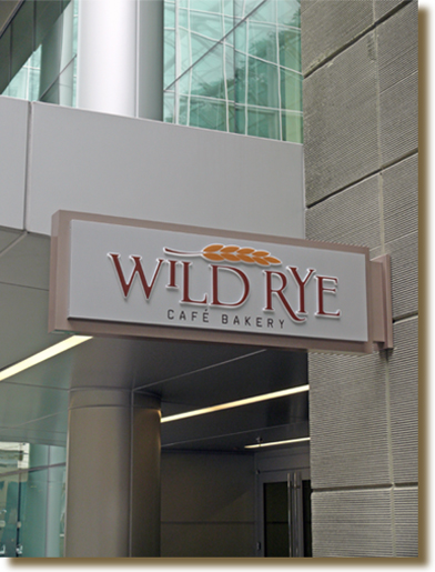 Main entrance to the Wild Rye Cafe Bakery
